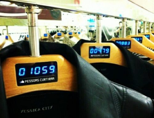 Facebook Like Buttons On Clothing Hangers In Brazil